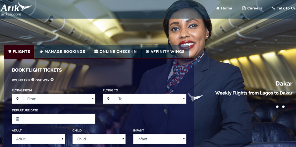 How to Book Arik Air Flight Online