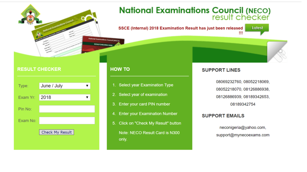 How to check NECO results in Nigeria