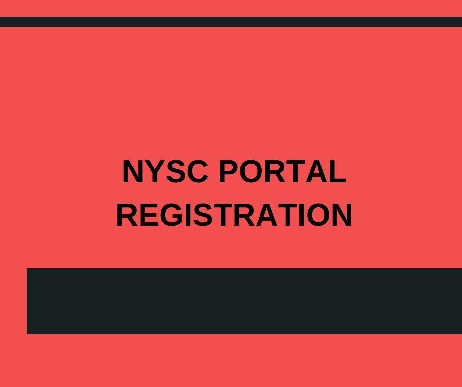 NYSC PORTAL REGISTRATION