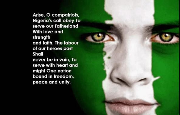 lyrics of Nigerian National Anthem