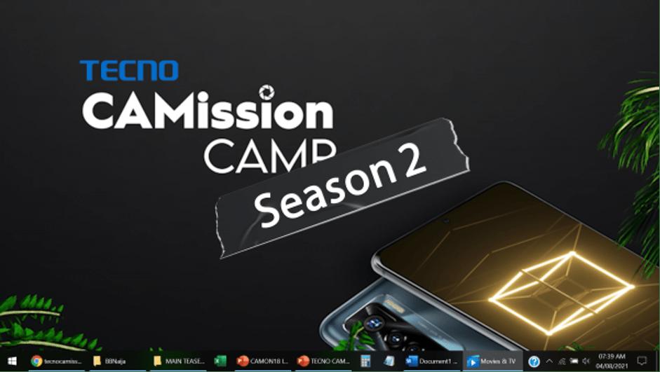 TECNO CaMission Reality Show