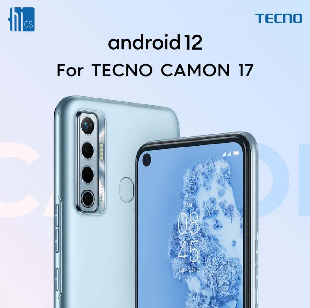 Camon 17 Android 12